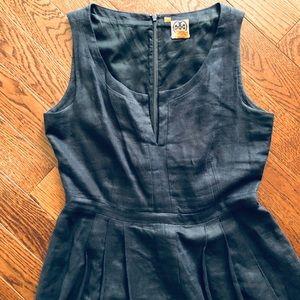 TORY BURCH Navy Linen Dress
